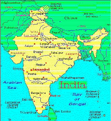 Map of India Grahpic
